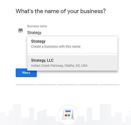 Google My Business Name Address