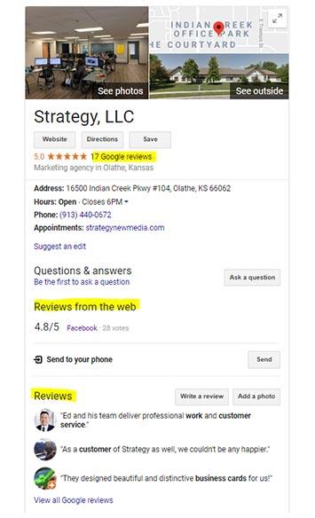 Google Reviews Google Maps Listing