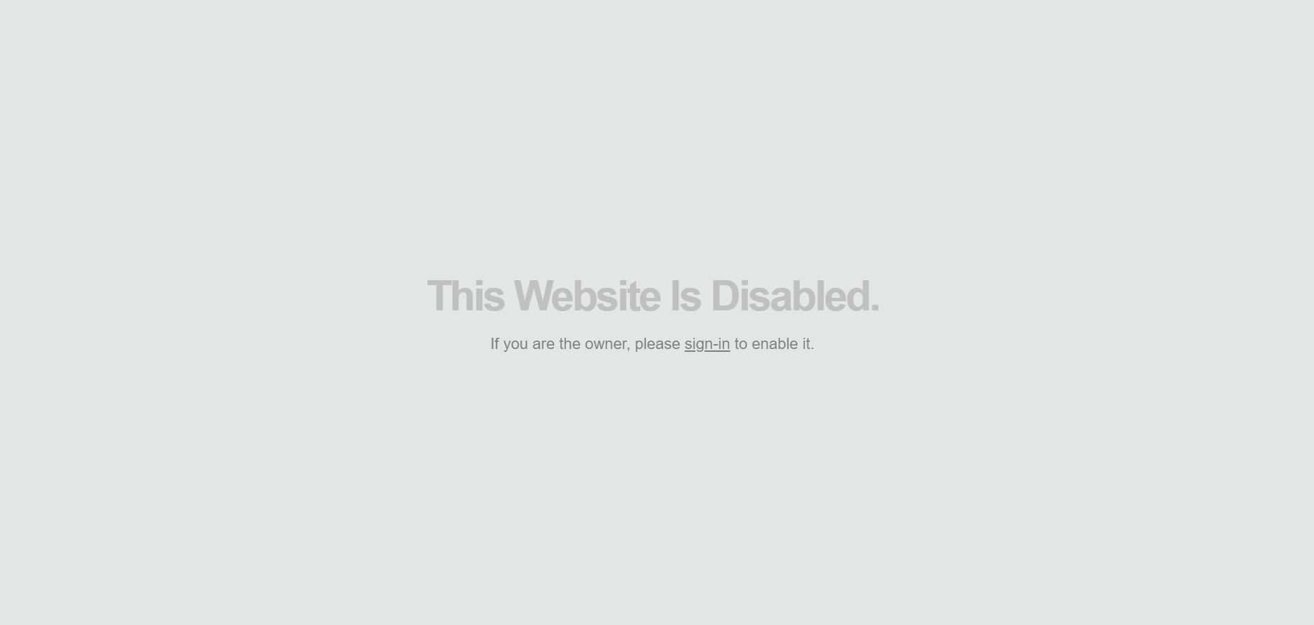 Lightcms Website Disabled