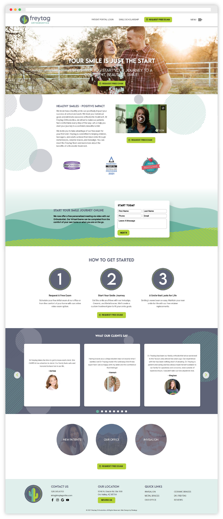 Freytag Orthodontics Website Design