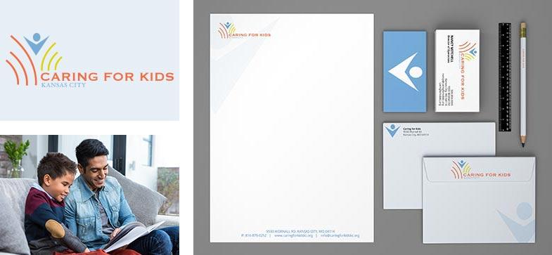 Caring For Kids Logo Branding Collateral Design