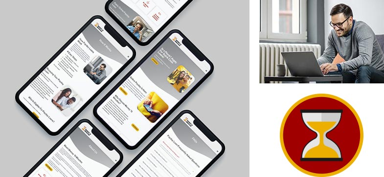 Payday Loan Website Mobile Responsive Branding Design