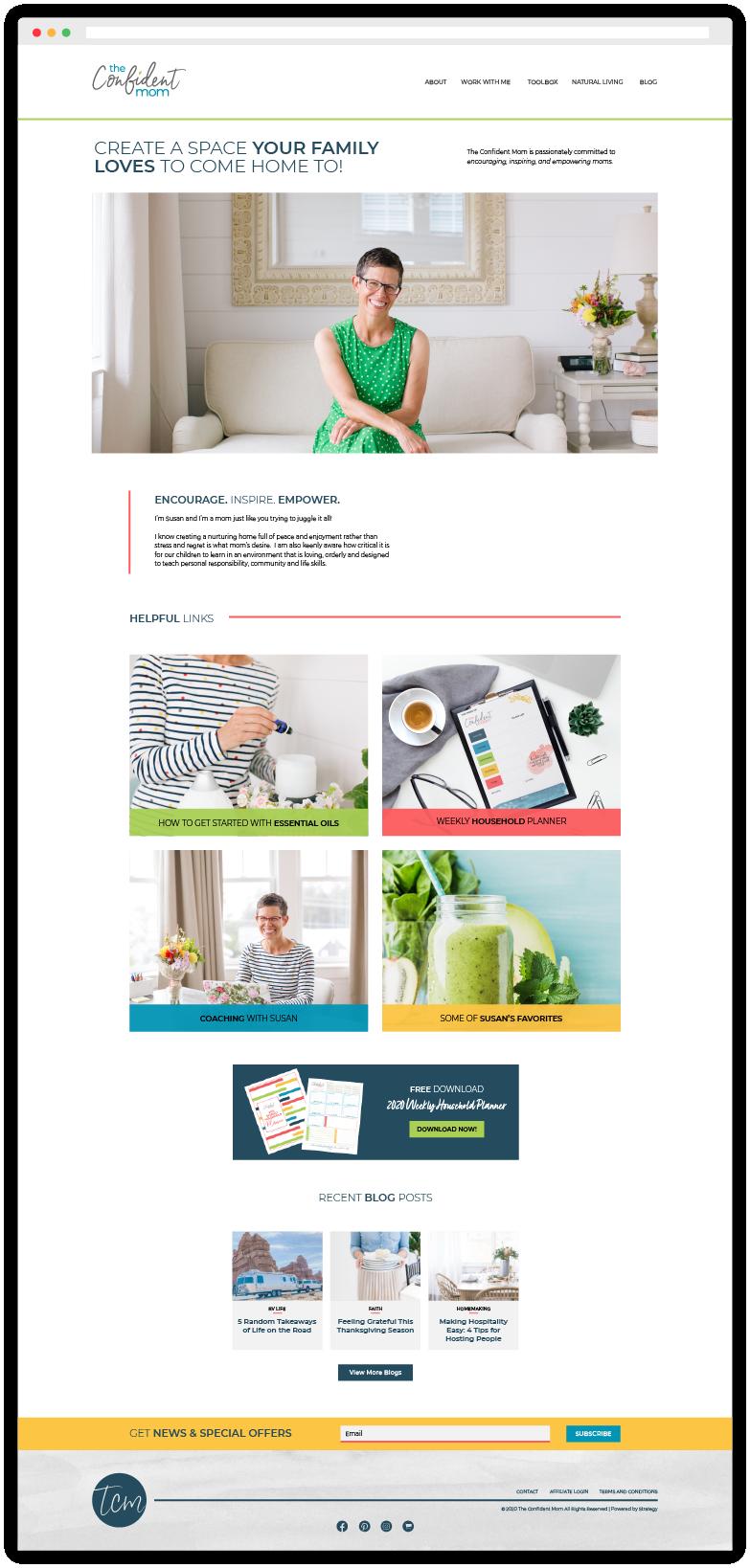 The Confident Mom Website Branding Design
