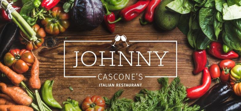 Johnny Cascones Italitan Restaurant Logo Branding Design