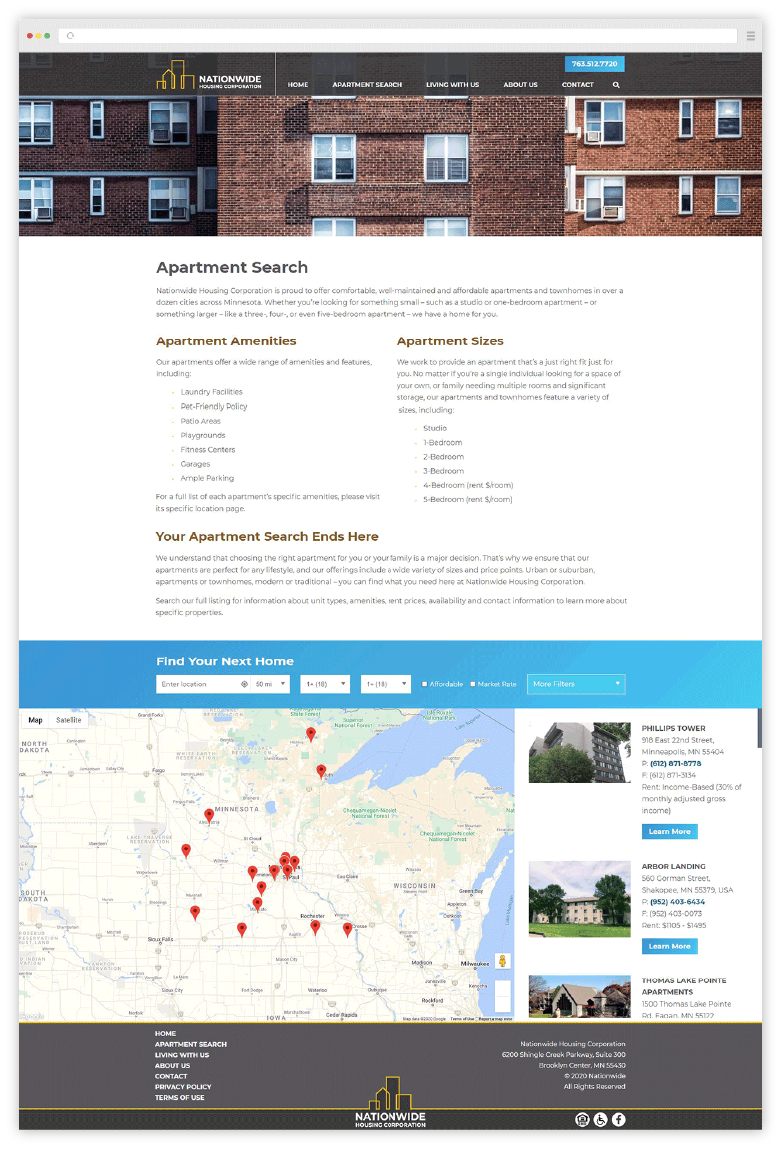 Nationwide Website Development
